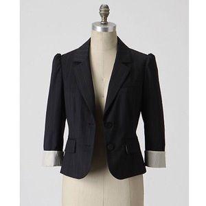 Anthropologie Sine Striped Blazer Jacket